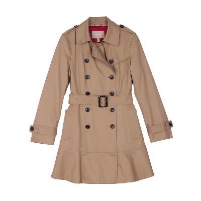 double trench coat beige